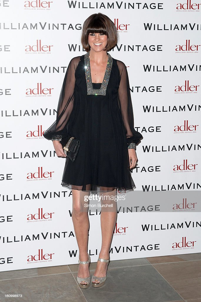Dawn O'Porter attends the WilliamVintage Dinner Sponsored By Adler at St Pancras Renaissance Hotel on February 8, 2013 in London, England.