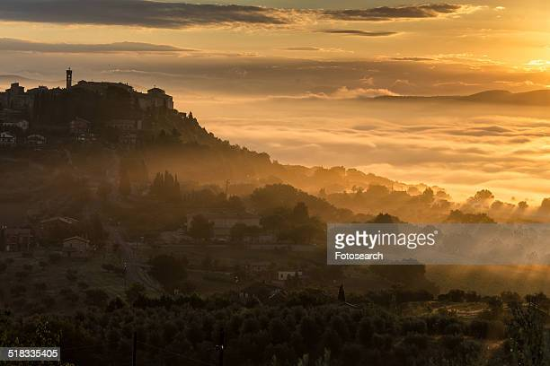 Dawn over MonteCastello di Vibio, Umbria, Italy