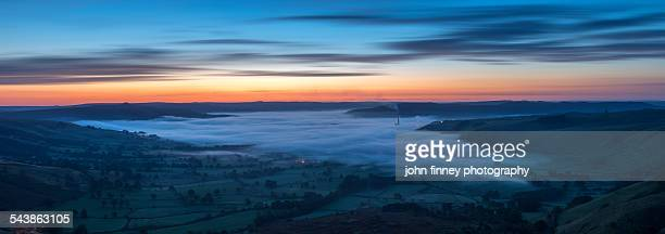 Dawn over the Peak District