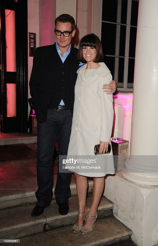 Dawn Porter (R) attends a dinner hosted by W Magazine and Jimmy Choo on October 11, 2012 in London, England.