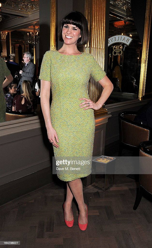 Dawn Porter attends the launch of Baileys new sleek bottle design at the Cafe Royal hotel on March 21, 2013 in London, England.