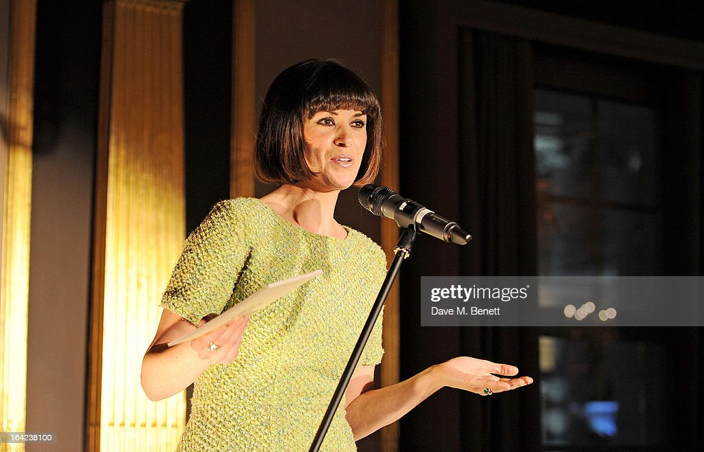 Dawn Porter speaks at the launch of Baileys new sleek bottle design at the Cafe Royal hotel on March 21, 2013 in London, England.