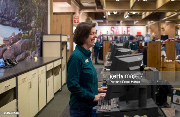 Dawn Roehr who has worked at LL Bean for five years behind the register at the flagship store LL Bean is offering early retirement packages to about...