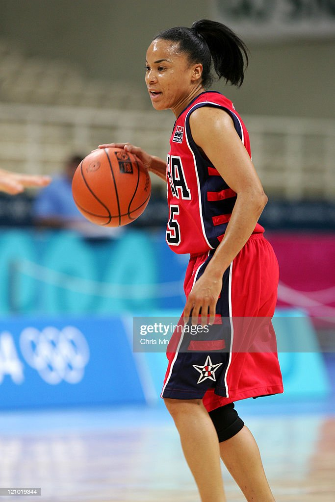 <a gi-track='captionPersonalityLinkClicked' href=/galleries/search?phrase=Dawn+Staley&family=editorial&specificpeople=209196 ng-click='$event.stopPropagation()'>Dawn Staley</a> of the USA during the Women's Basketball Semifinals in the Olympic Indoor Hall in Athens, Greece on August 27, 2004. USA beat Russia 66-62.