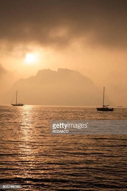 Dawn Tavolara island Loiri Porto San Paolo Sardinia Italy