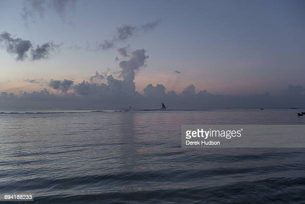 Dawn view of the Indian ocean at Msambweni fishing boats in the far distance The small fishing town and constituency of Msambweni is in Kwale county...