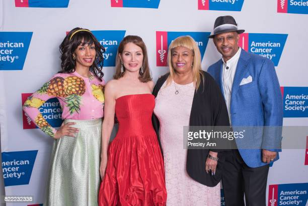 Dawne Marie Grannum Jean Shafiroff Flo Anthony and Ruben SantiagoHudson attend American Cancer Society Taste of Hope Goes to Broadway on July 24 2017...