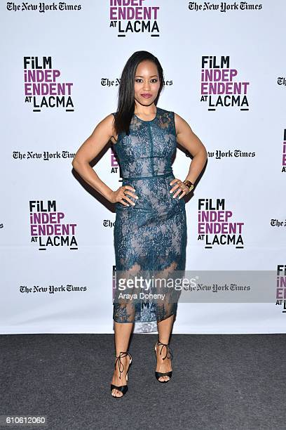 DawnLyen Gardner attends Film Independent at LACMA An Evening With Ava DuVernay and Oprah Winfrey at Bing Theatre At LACMA on September 26 2016 in...