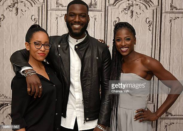 LR DawnLyen Gardner Kofi Scribe and Rutina Wesley attend Build Series to discuss their new OWN Series 'Queen Sugar' at AOL HQ on September 1 2016 in...