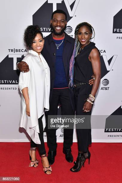 DawnLyen Gardner Kofi Siriboe and Rutina Wesley attend the Tribeca TV Festival midseason premiere of Queen Sugar at Cinepolis Chelsea on September 24...