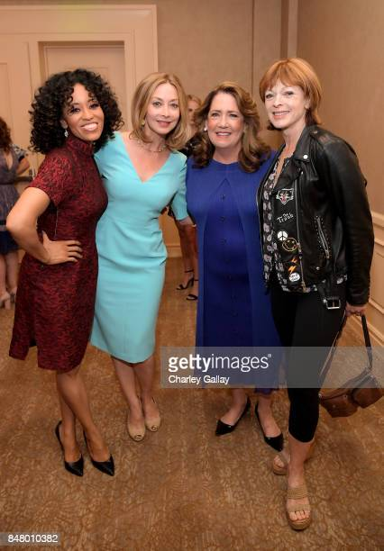 DawnLyen Gardner Sharon Lawrence Ann Dowd and Frances Fisher at the Women Making History Awards at The Beverly Hilton Hotel on September 16 2017 in...
