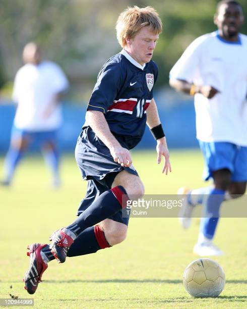 Dax McCarty of FC Dallas pounces on a losse ball USA under 21 men's team completely outclassed Haiti's under 23 team 51 In Fort Lauderdale Florida on...
