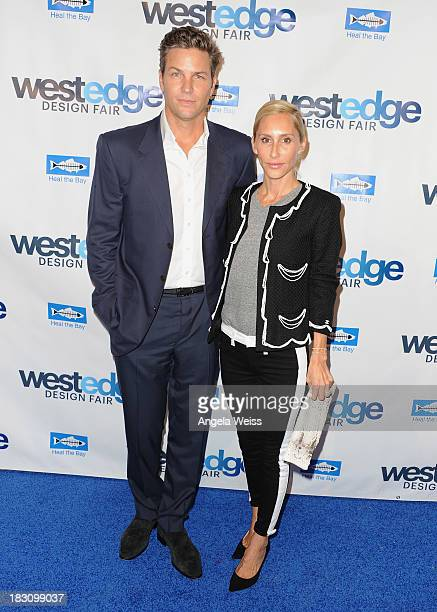 Dax Miller and Alexandra Von Furstenberg attend the WestEdge Design Fair opening night benefiting Heal the Bay at Barker Hangar on October 3 2013 in...