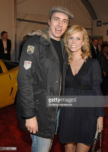 Dax Shepard and Cheryl Hines during 2007 GM Style Red Carpet at GM Pavilion in Detroit Michigan United States