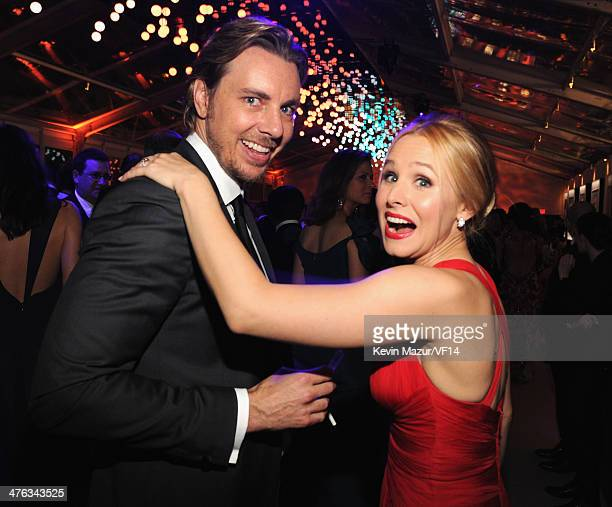 Dax Shepard and Kristen Bell attend the 2014 Vanity Fair Oscar Party Hosted By Graydon Carter on March 2 2014 in West Hollywood California