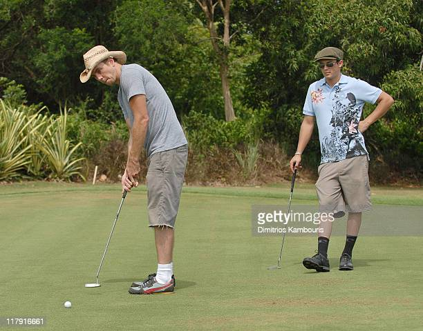 Dax Shepard and Stephen Colletti during The 3rd Annual Royal Plantation and Access Hollywood Celebrity Golf Classic Day 2 at Royal Plantation in Ocho...