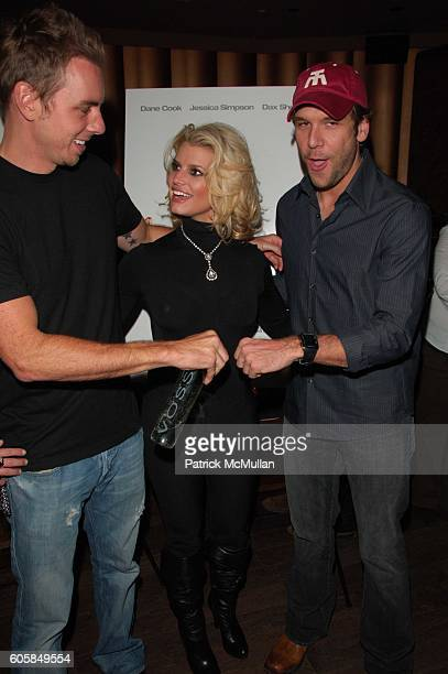 Dax Shepard Jessica Simpson and Dane Cook attend 'Employee of the Month' afterparty hosted by Whiteflashcom at Tenjune NYC on October 4 2006
