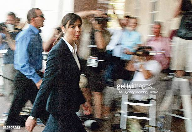 Day 2 of the trial of Bradley John Murdoch for the murder of Peter Falconio at the Supreme court in Darwin Joanne Lees arrives at court flanked by NT...