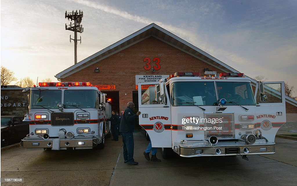A day after four firefighters were ambushed and shot in upstate NY, firefighters prepare their vehicles for Christmas day at Kentlands volunteer fire department on December, 25, 2012 in Landover, MD.