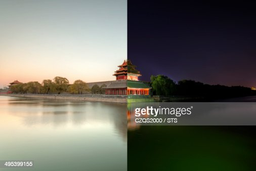 Day and night of the Forbidden City, Beijing