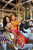 day at an amusement park