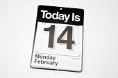 Day calendar, Valentine's Day