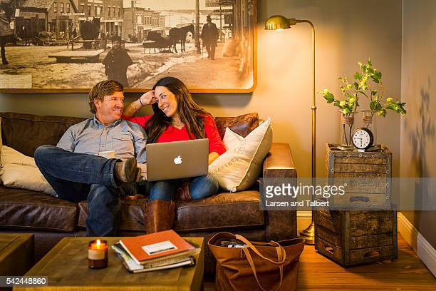 A day in the life of HGTV's 'Fixer Uppers' Joanna Gaines and Chip Gaines for HGTV on December 14 2015 in Waco Texas