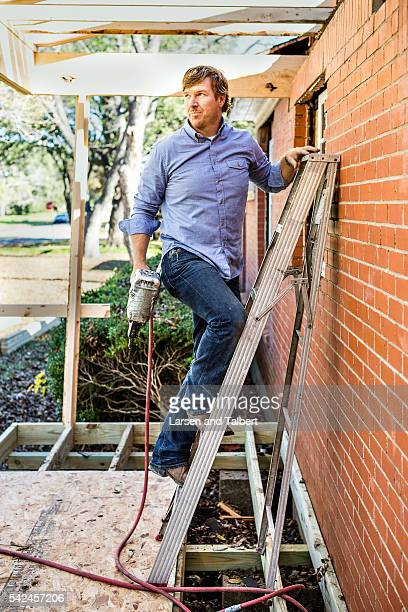 A day in the life of HGTV's 'Fixer Uppers' Joanna Gaines and Chip Gaines for HGTV on December 14 2015 in Waco Texas ON INTERNATIONAL EMBARGO UNTIL...