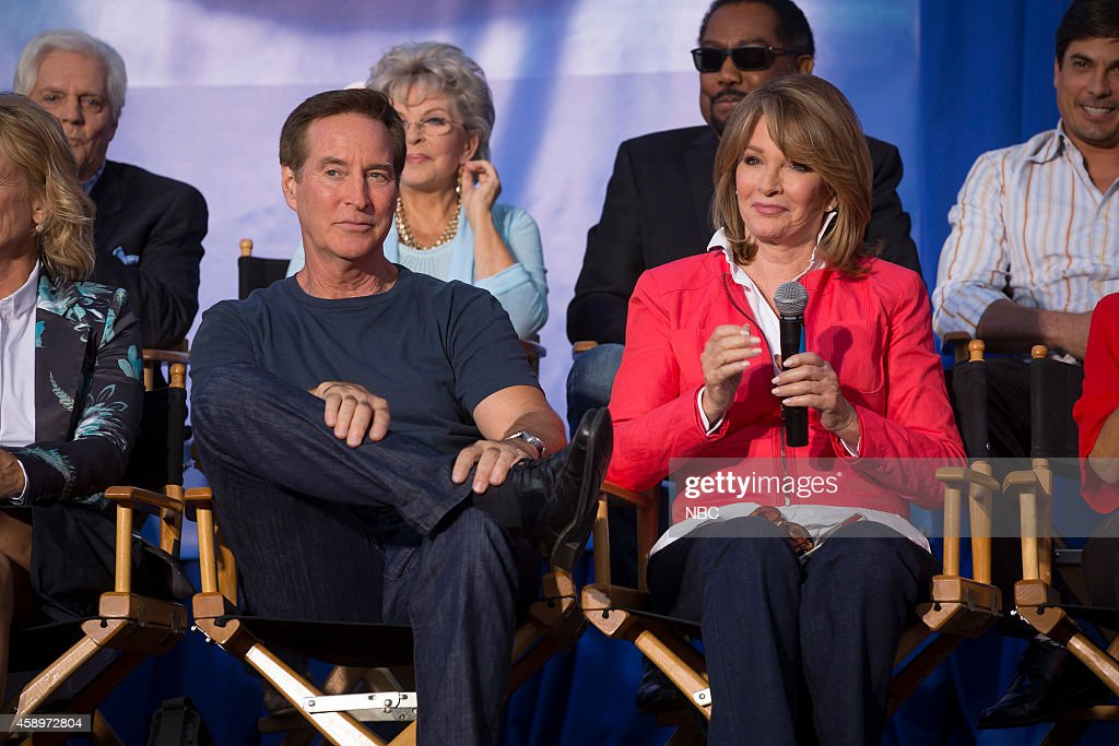 LIVES -- 'Day of Days Fan Event' -- Pictured: Back Row (l-r) Bill Hayes, Susan Hayes, <a gi-track='captionPersonalityLinkClicked' href=/galleries/search?phrase=James+Reynolds+-+Actor&family=editorial&specificpeople=15155315 ng-click='$event.stopPropagation()'>James Reynolds</a>, <a gi-track='captionPersonalityLinkClicked' href=/galleries/search?phrase=Bryan+Dattilo&family=editorial&specificpeople=234806 ng-click='$event.stopPropagation()'>Bryan Dattilo</a>; Front Row (l-r) <a gi-track='captionPersonalityLinkClicked' href=/galleries/search?phrase=Drake+Hogestyn&family=editorial&specificpeople=2172579 ng-click='$event.stopPropagation()'>Drake Hogestyn</a>, <a gi-track='captionPersonalityLinkClicked' href=/galleries/search?phrase=Deidre+Hall&family=editorial&specificpeople=210894 ng-click='$event.stopPropagation()'>Deidre Hall</a> --
