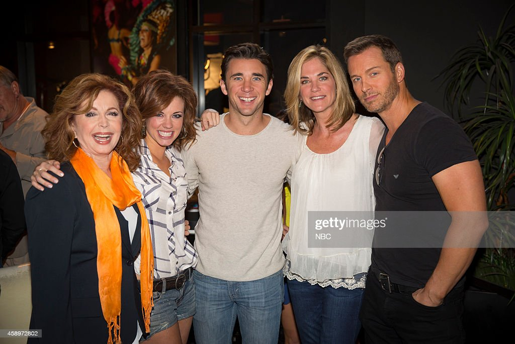 LIVES -- 'Day of Days Fan Event' -- Pictured: (l-r) <a gi-track='captionPersonalityLinkClicked' href=/galleries/search?phrase=Suzanne+Rogers+-+Actress&family=editorial&specificpeople=13902592 ng-click='$event.stopPropagation()'>Suzanne Rogers</a>, Molly Burnett, Billy Flynn, <a gi-track='captionPersonalityLinkClicked' href=/galleries/search?phrase=Kassie+DePaiva&family=editorial&specificpeople=663696 ng-click='$event.stopPropagation()'>Kassie DePaiva</a>, <a gi-track='captionPersonalityLinkClicked' href=/galleries/search?phrase=Eric+Martsolf&family=editorial&specificpeople=675242 ng-click='$event.stopPropagation()'>Eric Martsolf</a> --