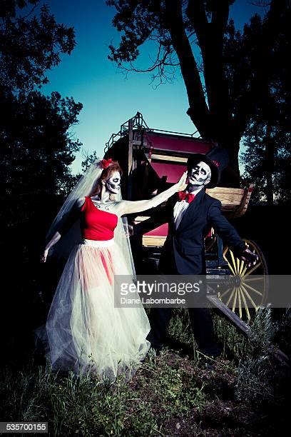 Day Of The Dead Bride Slaps Her Groom