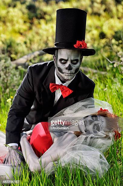 Day of The Dead Groom Awakening His Bride