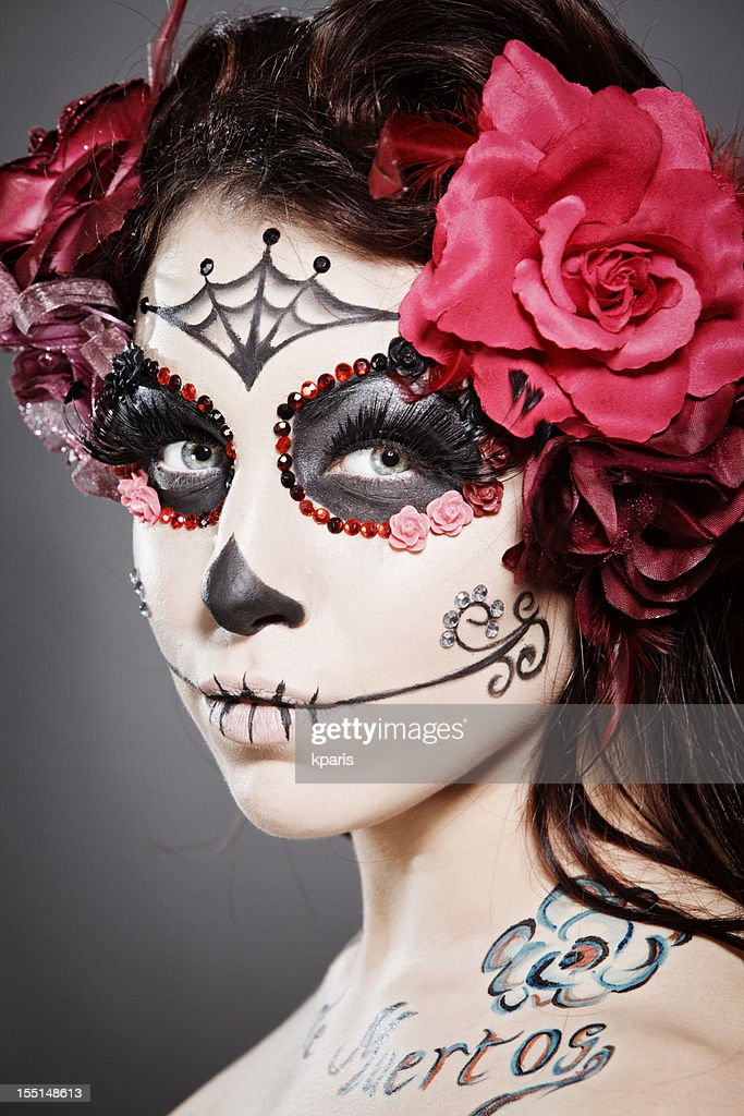 day of the dead make up on woman stock photo getty images