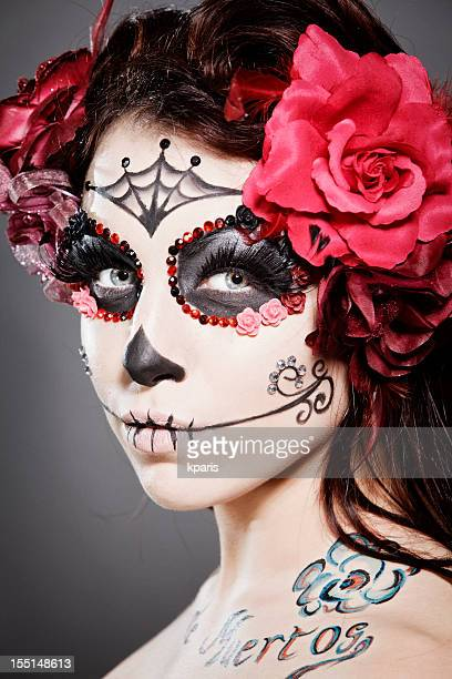 Day of the Dead make up on woman
