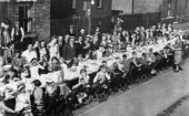 VE Day party Dunstan Street Netherfield Nottinghamshire May 1945 VE Day finally arrived on 8th May 1945 after fierce efforts by the allied forces The...