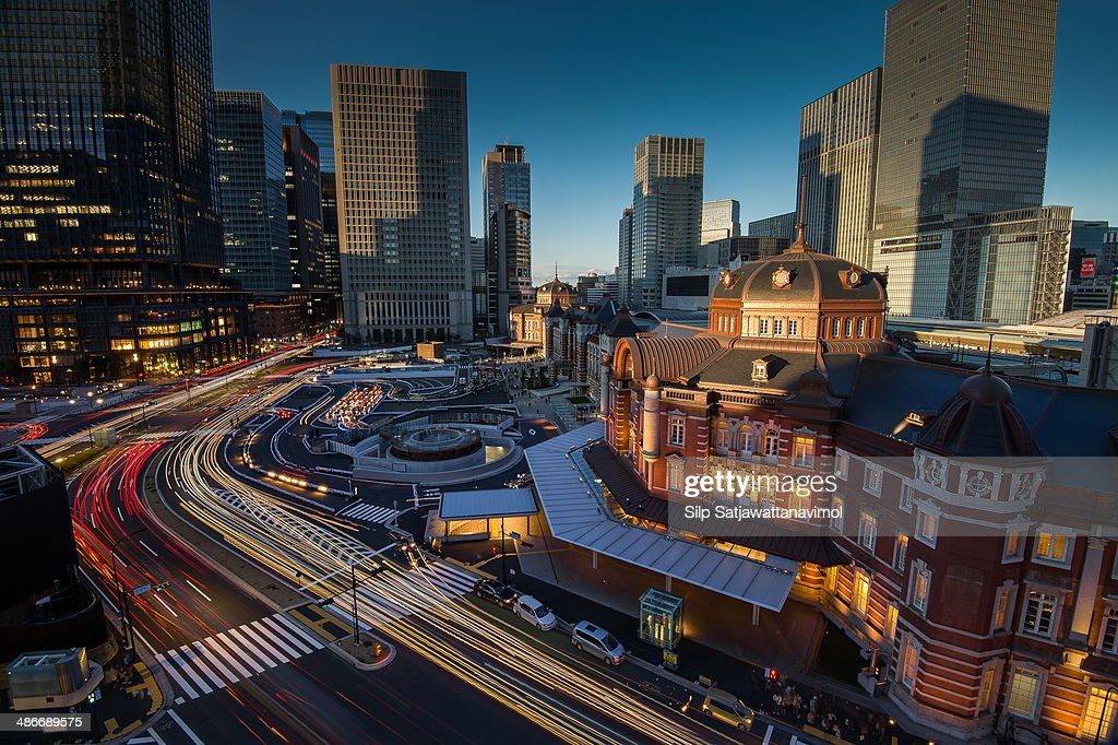 Day to Night at Tokyo Central Station