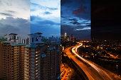 Day to night, Kuala Lumpur