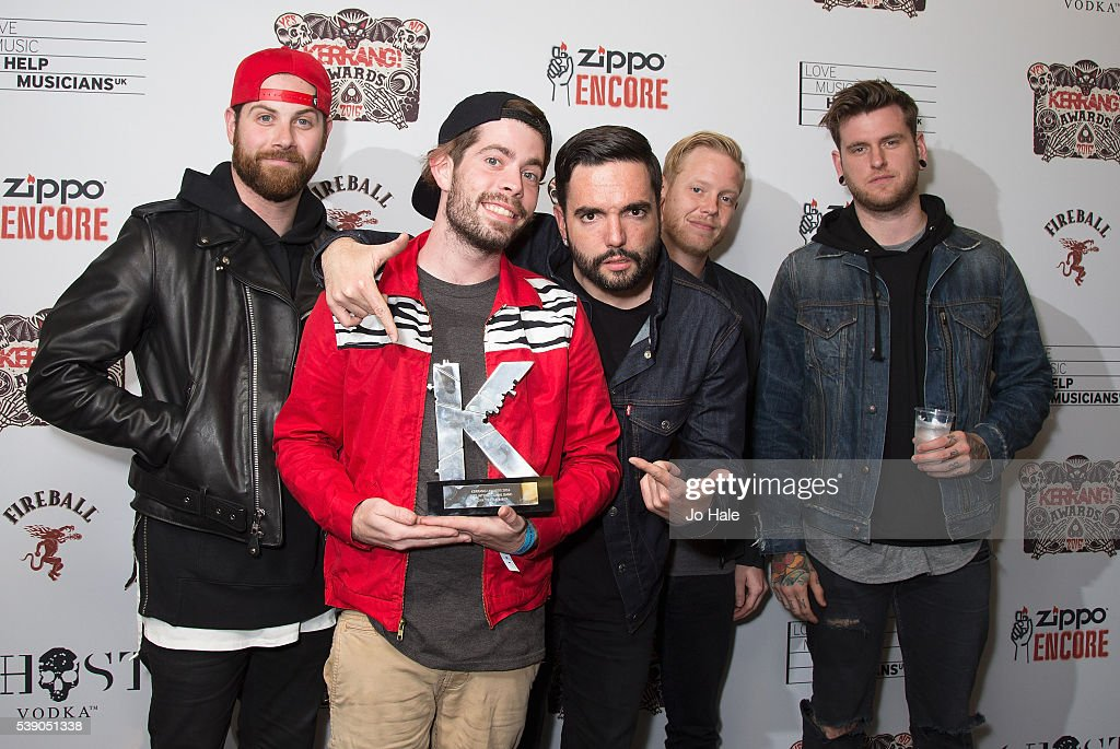 Day to Remember win Best International Band Award at the Kerrang Awards at the Troxy on June 9 2016 in London England