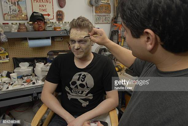 A day with SFX specialist Anthony Pepe from Demonic Pumpkins in Queen's New York City Zombie Makeup Step 1 Latex Application Step 2 Texturing of...