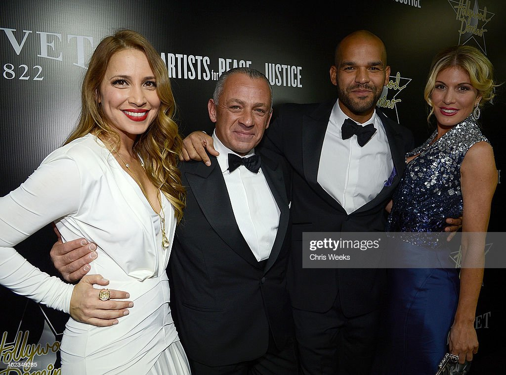Daya Fernandez, Pascal Raffy, actor <a gi-track='captionPersonalityLinkClicked' href=/galleries/search?phrase=Amaury+Nolasco&family=editorial&specificpeople=4493818 ng-click='$event.stopPropagation()'>Amaury Nolasco</a> and TV host <a gi-track='captionPersonalityLinkClicked' href=/galleries/search?phrase=Hofit+Golan&family=editorial&specificpeople=542603 ng-click='$event.stopPropagation()'>Hofit Golan</a> attend the Hollywood Domino and Bovet 1822 Gala benefiting Artists For Peace And Justice at Sunset Tower on February 21, 2013 in West Hollywood, California.