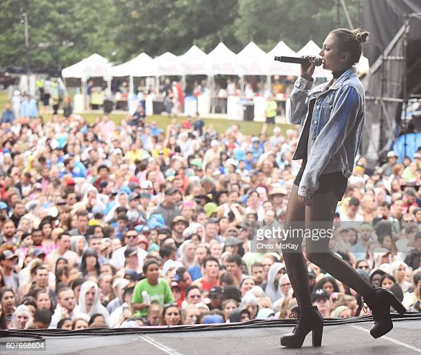 Daya performs in front of the crowd during the Music Midtown Festival at Piedmont Park on September 18 2016 in Atlanta Georgia