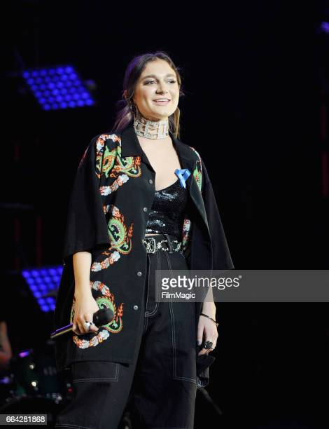 Daya performs onstage at WELCOME Fundraising Concert Benefiting The ACLU presented by Zedd at Staples Center on April 3 2017 in Los Angeles California