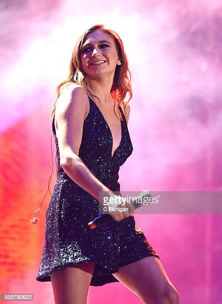 Daya performs with The Chainsmokers perform on stage at KIIS FM's Wango Tango 2016 at StubHub Center on May 14 2016 in Carson California