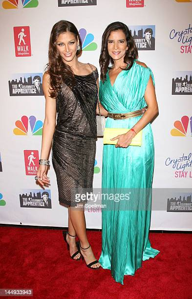 Dayana Mendoza and Patricia Velasquez attend the 'Celebrity Apprentice' Live Finale at American Museum of Natural History on May 20 2012 in New York...