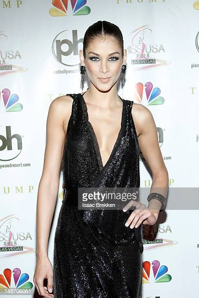 Dayana Mendoza arrives at the 2012 Miss USA pageant the Planet Hollywood Resort Casino on June 3 2012 in Las Vegas Nevada