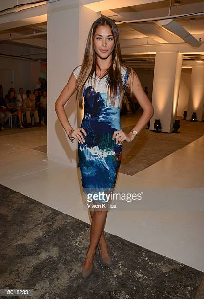 Dayana Mendoza attends the Angel Sanchez presentation during MercedesBenz Fashion Week Spring 2014 on September 9 2013 in New York City