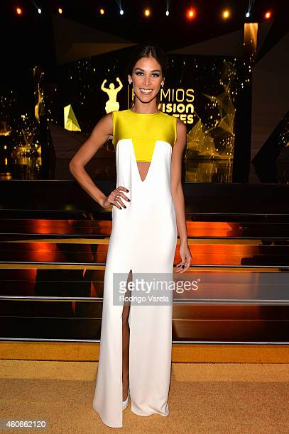 Dayana Mendoza attends the inaugural Premios Univision Deportes backstage at Univision Studios on December 18 2014 in Miami Florida
