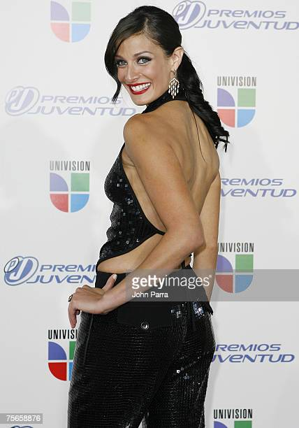 Dayanara Torres arrives at the Bank United Center for the Premios Juventud Awards on July 19 2007 in Coral Gables Florida