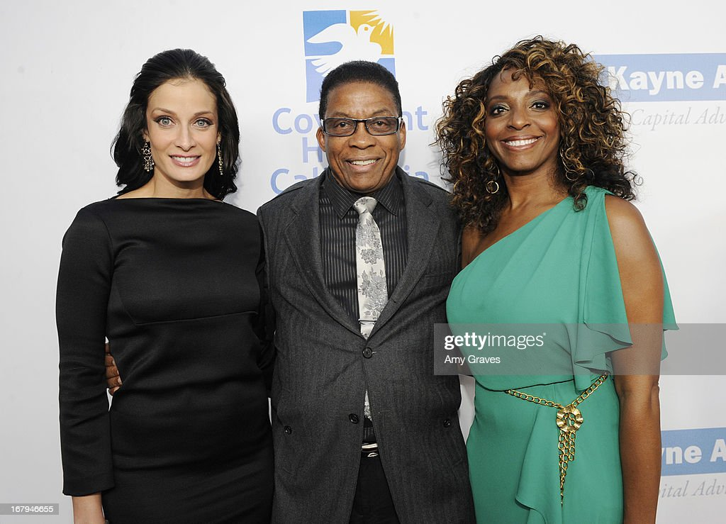 Dayanara Torres, Herbie Hancock and Kandace Lindsey attend A Magical Night of Hope at Skirball Cultural Center on May 2, 2013 in Los Angeles, California.