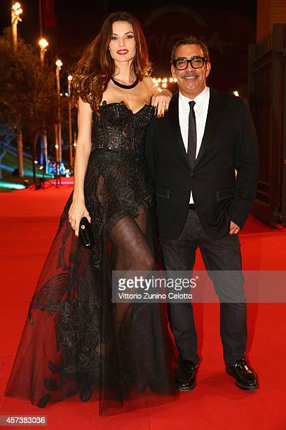 Dayane Mello and Guillermo Mariotto attend the 'The Knick' Red Carpet during the 9th Rome Film Festival on October 17 2014 in Rome Italy
